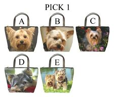 Yorkshire Terrier Yorkie Dog Puppy Puppies A-E Bucket Bag Handbag Purse #PICK 1