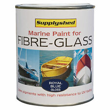 SUPPLYSHED Marine Boat Gloss ROYAL BLUE Paint for Fibreglass and GRP 750ml
