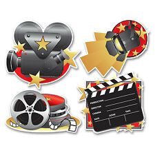 Movie Set Cutouts 4 Piece Hollywood Theme Party
