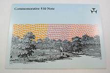 $10 Johnston Fraser Bicentenary Commemorative note in folder of issue. Top item,
