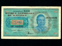 Katanga:P-6a,20 Francs,1960 * Moise Tshombe * VF *