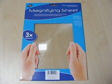 A4 SIZE FRESNEL LENS MAGNIFYING MAGNIFICATION SHEET (SIMILAR TO READING GLASSES)