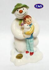 John Beswick JBS16 The Snowman Kneeling With Billy Snowdog Christmas Figurine