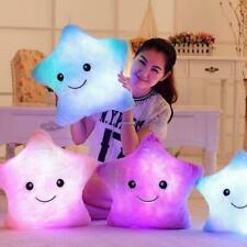 Luminous Pillow Star Cushion Colorful Glowing Led Light For Girl Gift Toys E7F4