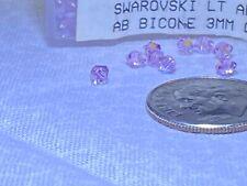27 pcs Swarovski 3mm Crystal LIGHT AMETHYST AB Bicone Faceted Beads
