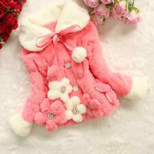 Toddler Kids Baby Girls Outerwear Winter Warm Thick Jacket Tops Coat Snowsuit