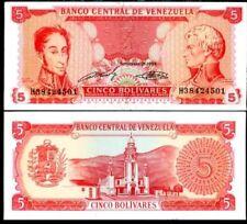VENEZUELA 5 BOLIVARES 1989 P 70 UNC