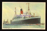 LS1296 - Cunard Liner - Ausonia - artist postcard