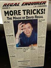 David Regal More Tricks The Magic of David Regal Vhs Tape Volume 2