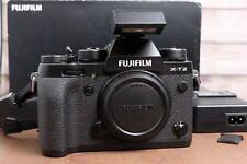Fujifilm Fuji X-T2 24.3MP Mirrorless Digital Camera Body (Black) w/Flash & Box