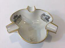 "Vintage Kronach OCA Bavaria Porcelain Ashtray with Gold Rim, 6"" W x 2 1/4"" High"