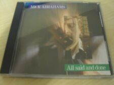 Mick Abrahams - All said and done ( Jethro Tull ) - CD
