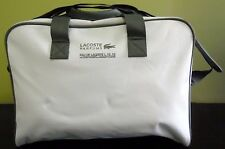 LACOSTE Perfume White&grey unisex specious Sport Duffle Gym Travel Overnight Bag