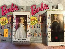Lot Of 2 - Basic Fun Barbie Keychains Solo in Spotlight and Wedding Day Barbie