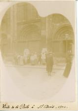 France, Visite de la Philo à Saint-Denis 1904, Vintage citrate print Vintage cit
