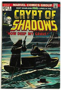 CRYPT OF SHADOWS#8 FN/VF 1974 MARVEL BRONZE AGE COMICS