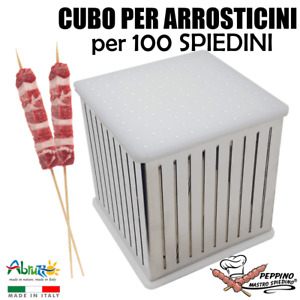 CUBO PER PRODUZIONE ARROSTICINI FABBRICA SPIEDINI KEBAB Acciaio INOX per 100