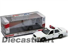 FORD CROWN VICTORIA WHITE UNMARKED POLICE CAR LIGHT/SOUNDS 1:18 GREENLIGHT 12921