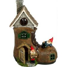 Garden Gnome Boot Fairy House Statue Ornament Funny Novelty Gift Shoe Cottage