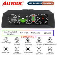 Smart GPS Slope Meter Inclinometer Multifunctional Alarm Speedometer KMH/MPH 12V