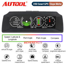 Autool X90 Smart GPS Slope Meter Inclinometer Multi-functional Alarm Speed 12V
