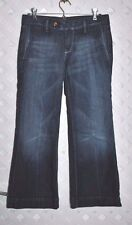 7 SEVEN FOR ALL MANKIND Stretch CROPPED JEANS W/ TAB AND ZIPPER CLOSURE 26