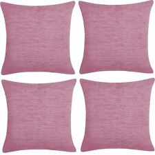 4 x Stylish Soft Chenille Scatter Cushion Cover Luxury Soft 43 x 43, 17x17""