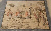 Vintage French Beautiful Arabian Market Scene Tapestry 120x165cm A978