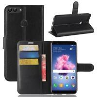Huawei P Smart Custodia a Portafoglio Protettiva Cover wallet Case Nero