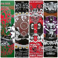 The Black Angels, Roky Erickson Gig Poster 13x19 set of 4 psych posters