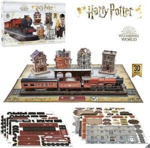Harry Potter 3D Puzzle Hogwarts Express Diagon Alley Bldgs 453 Pcs Poster Base
