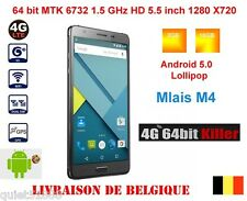 16GB 5.5' Mlais M4 Note4 MTK6732 Quad Core 1.3 GHz Android 5 Dual Sim 4G LTE GSM