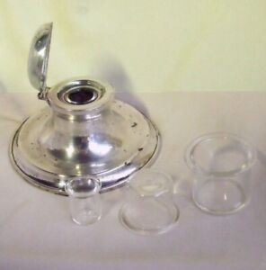20 GLASS INK LINER INSERTS Liners for Silver Inkwells  Antique Dealers Trade Set