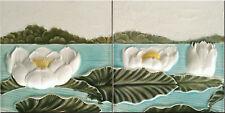 Decorative Tile 6 X 6 inches Ceramic mural  Art Nouveau Vintage reproduction  #6