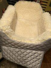 SNOOZER Pet Booster Travel Seat Medium silver/cream