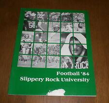 1984 SLIPPERY ROCK UNIVERSITY - THE ROCK - FOOTBALL MEDIA GUIDE