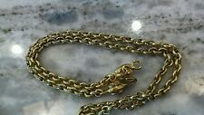 Stunning vintage Chanel gold tone skinny belt 32 inches or necklace