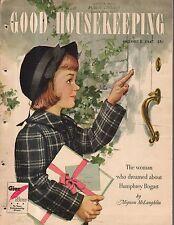 1947 Good Housekeeping October - Humphrey Bogart; Winnetka IL home; Ulcers; Cerf