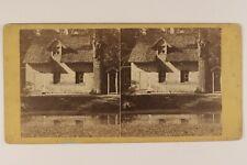 Hameau de la Reine Versailles PARIS FRANCE Photo Stereo c1875 Albumine Vintage