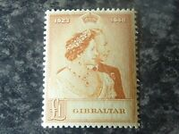 GIBRALTAR POSTAGE STAMP SG135 £1 LIGHTLY MOUNTED MINT