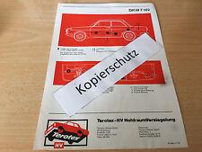 DKW F 102, Terotex Hohlraumversiegelungsplan