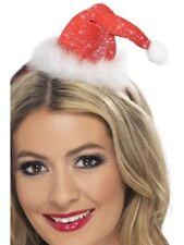 Mini Santa Hat Ladies Christmas Fancy Dress Accessory Santas Xmas Party