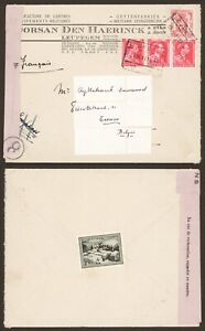 Belgium WWII 1944 - Cover Leupegem to Tienen - Censor I839