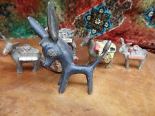 Vintage Mexico Burro Mule Donkey cast Metal sculpture Miners Figurine Souvenir