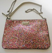 Mango Touch Sequin Silver Cross Over Hobo Chain Strap Hang Bag Purse