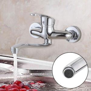 Küchenarmatur schwenkbarer Auslauf, Wandmontage Mischbatterie Küche Wasserhahn