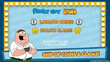 [iOS/Android] Family Guy: Quest For Stuff 500,000 Clams & 1,000,000 Coins!