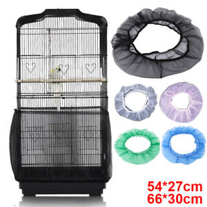 Organza Bird Cage Seed Catcher Guard Tidy Skirt Style Cover Guard Trap Mesh Case