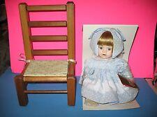 Franklin Heirloom Franklin Mint Porcelain Doll In Box Withbonus Wood Chair