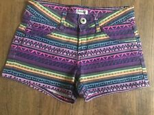 Girls Tammy Multi Coloured Geometric Pattern Shorts Age 10 Years